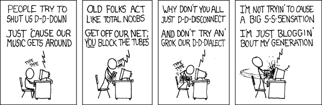 XKCD blogging bout my generation