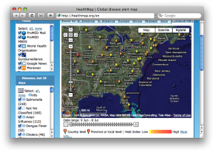 HealthMap mines text for a global disease alert map