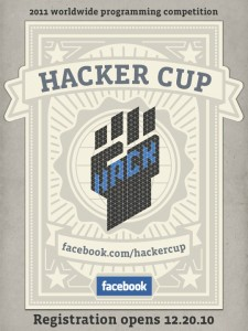 First Annual Facebook Hackers Cup