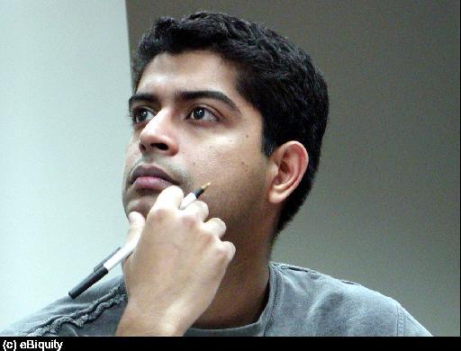Akshay Java at a group meeting