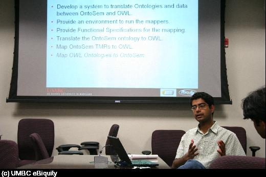 Akshay Java discusses mapping knowledge between OntoSem and OWL