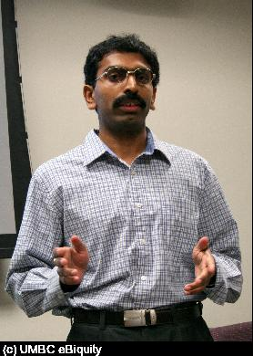 Shashidhara Ganjugunte defends his MS thesis.