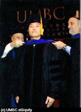 Dr. Chen is hooded