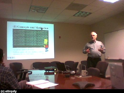Tim Finin -- SWIG Meeting Apr. 07, 2004